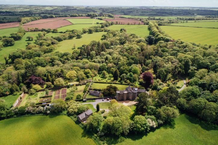 Aerial view Upton Castle gardens