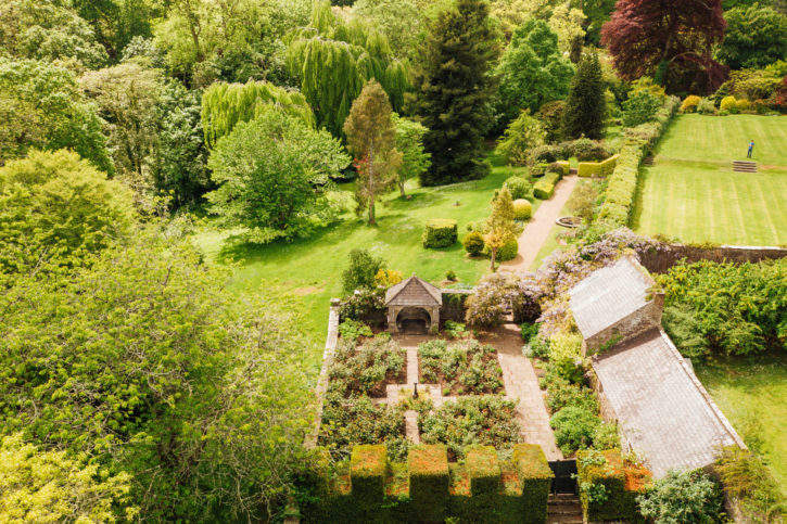 Aerial photo of Upton Castle Gardens